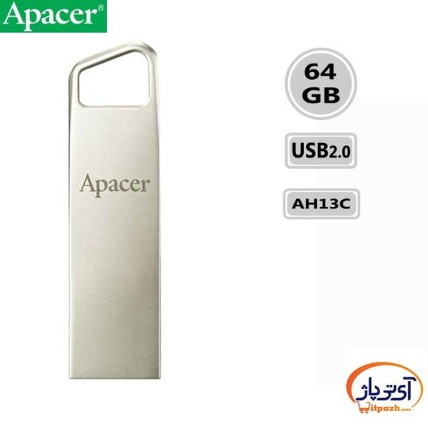فلش مموری USB2.0 اپیسر 64 گیگابایت مدل Apacer AH13C