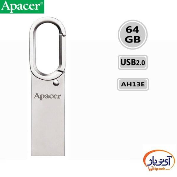 فلش مموری USB2.0 اپیسر 64 گیگابایت مدل Apacer AH13E