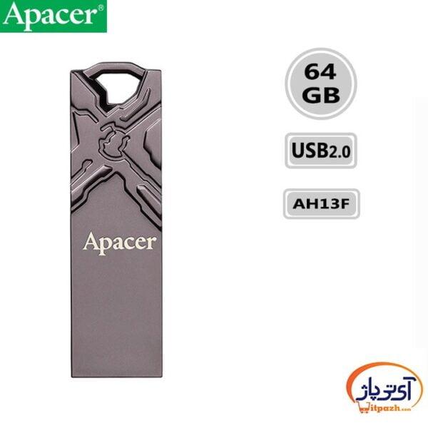 فلش مموری USB2.0 اپیسر 64 گیگابایت مدل Apacer AH13F