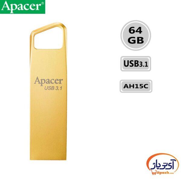 فلش مموری USB3.1 اپیسر 64 گیگابایت مدل Apacer AH15C