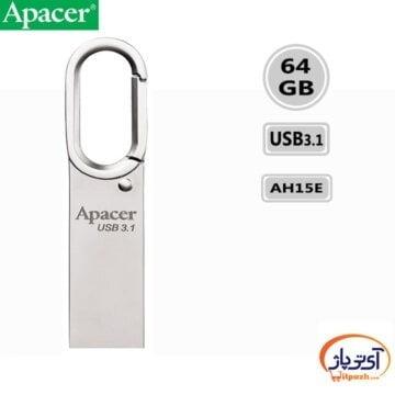 فلش مموری USB3.1 اپیسر 64 گیگابایت مدل Apacer AH15E