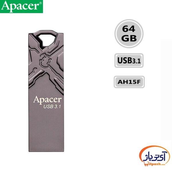 فلش مموری USB3.1 اپیسر 64 گیگابایت مدل Apacer AH15F