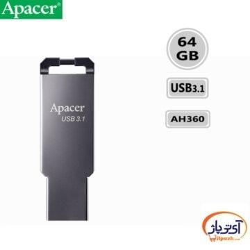 فلش مموری USB3.1 اپیسر 64 گیگابایت مدل Apacer AH360